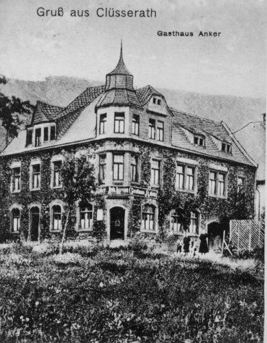 Gasthaus des Moritz Kahn (Foto vor Dammbau 1933)
